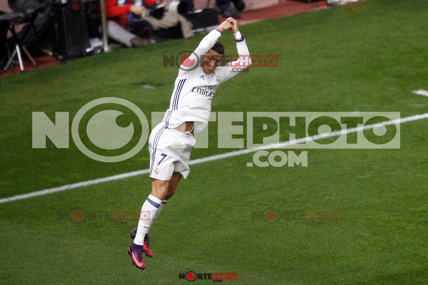 Real Madrid's Cristiano Ronaldo celebrates goal during La Liga match. November 19,2016. (ALTERPHOTOS/Acero) /NORTEPHOTO.COM