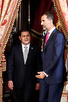 Spanish Royals Meet Honduras President