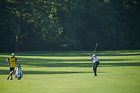 Danny Willett (GBR) hits his approach shot on 11 during 1st round of the 100th PGA Championship at Bellerive Country Cllub, St. Louis, Missouri. 8/9/2018.<br /> Picture: Golffile | Ken Murray<br /> <br /> All photo usage must carry mandatory copyright credit (© Golffile | Ken Murray)