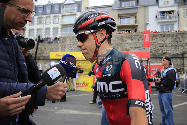Richie Porte (AUS) BMC Racing Team at sign on before the start of Stage 3 of the 2016 Tour de France, running 223.5km from Granville to Angers, France . 4th July 2016.<br /> Picture: Eoin Clarke | Newsfile<br /> <br /> <br /> All photos usage must carry mandatory copyright credit (&copy; Newsfile | Eoin Clarke)