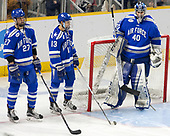 Erik Baskin (AFA - 27), Tyler Ledford (AFA - 13), Shane Starrett (AFA - 40) - The Harvard University Crimson defeated the Air Force Academy Falcons 3-2 in the NCAA East Regional final on Saturday, March 25, 2017, at the Dunkin' Donuts Center in Providence, Rhode Island.