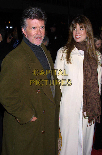 ALAN THICKE & WIFE..Anaylze That Film Premiere, New York..half length, half-length, hand in pocket, scarf..www.capitalpictures.com..sales@capitalpictures.com..©Capital Pictures