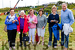 The O'Sullivan Clan had some fortune at the races in Cahersiveen on Sunday pictured here on the way to collect were l-r; Bridget, Eileen, Helen, Mary C. & Christine O'Sullivan with Peter Gardner.