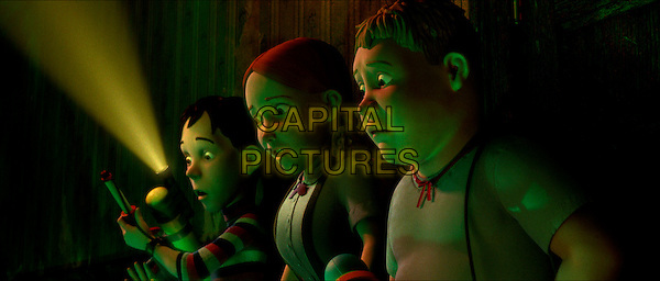 DJ (Mitchel Musso), JENNY (Spencer Locke) & CHOWDER (Sam Lerner).in Monster House.Filmstill - Editorial Use Only.CAP/AWFF.www.capitalpictures.com.sales@capitalpictures.com.Supplied By Capital Pictures.