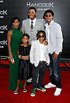 "Actress Jada Pinkett Smith, actress Willow Smith, Actor Will Smith, actor Jaden Smith and Trey Smith (L-R) arrive to The World Premiere of Columbia Pictures' ""Hancock"" at the Grauman's Chinese Theatre on June 30, 2008 in Hollywood, California. arrive to The World Premiere of Columbia Pictures' ""Hancock"" at the Grauman's Chinese Theatre on June 30, 2008 in Hollywood, California."