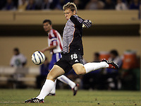 10 September 2005:  Brad Guzan of the CD Chivas USA in action against the Earthquakes at Spartan Stadium in San Jose, California.    San Jose Earthquakes defeated CD Chivas USA, 3-0.