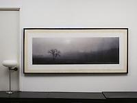 """D'Amore: """"Renaissance Landscape"""", Digital Print, Image Dims. 18.5"""" x 60"""", Framed Dims. 31"""" x 72"""""""
