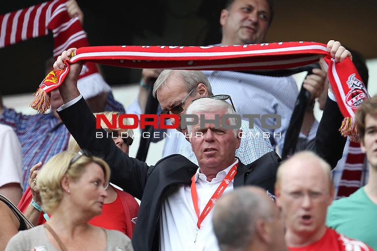 17.08.2013, Rhein Energie Stadion, Koeln, GER, 2. FBL, 1. FC Koeln vs SV Sandhausen, im Bild<br /> Werner Spinner (Praesidium Koeln)<br /> <br /> Foto &copy; nph / Mueller