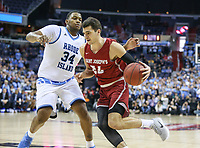 Washington, DC - March 10, 2018: Saint Joseph's Hawks forward Pierfrancesco Oliva (24) in action during the Atlantic 10 semi final game between Saint Joseph's and Rhode Island at  Capital One Arena in Washington, DC.   (Photo by Elliott Brown/Media Images International)