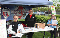 Piscataway, NJ, May 7, 2016. The Jersey Area Girls Soccer tent prior to the Sky Blue FC game. The Western New York Flash defeated Sky Blue FC, 2-1, in a National Women's Soccer League (NWSL) match at Yurcak Field.