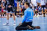 Niklas Landin Jacobsen, (THW Kiel #1) / TVB 1898 Stuttgart - THW Kiel / DHB Pokal Viertelfinale / HBL / 1.Handball-Bundesliga / SCHARRrena / Stuttgart Baden-Wuerttemberg / Deutschland beim Spiel im DHB Pokal Viertelfinale, TVB 1898 Stuttgart - THW Kiel.<br /> <br /> Foto © PIX-Sportfotos *** Foto ist honorarpflichtig! *** Auf Anfrage in hoeherer Qualitaet/Aufloesung. Belegexemplar erbeten. Veroeffentlichung ausschliesslich fuer journalistisch-publizistische Zwecke. For editorial use only.