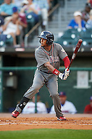 Lehigh Valley IronPigs right fielder Cedric Hunter (21) at bat during a game against the Buffalo Bisons on August 29, 2016 at Coca-Cola Field in Buffalo, New York.  Buffalo defeated Lehigh Valley 3-2.  (Mike Janes/Four Seam Images)