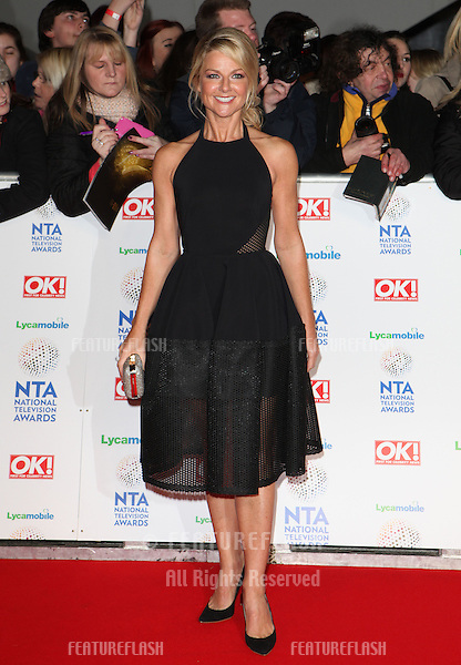 Sarah Hadland arrives for the National TV Awards 2014 at the O2 arena, Greenwich, London.22/01/2014 Picture by: Alexandra Glen / Featureflash