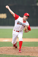 July 4th 2008:  Pitcher Eryk McConnell (28) of the Williamsport Crosscutters, Class-A affiliate of the Philadelphia Phillies, during a game at Bowman Field in Williamsport, PA.  Photo by:  Mike Janes/Four Seam Images