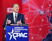 Wayne LaPierre, Executive Vice President, National Rifle Association, speaks at the Conservative Political Action Conference (CPAC) at the Gaylord National at National Harbor, Maryland on Friday, February 27, 2015. <br /> Credit: Ron Sachs / CNP