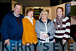 Jimmy, Bernadette, Marita and Susan Browne, pictured at 'The Cripple of Inishmaan' at Ardfert Community Centre on Friday night last.