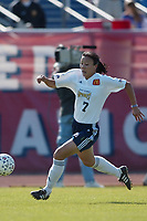 Zhang Ouying of the San Diego Spirit during a May 25th game against the New York Power at Mitchel Athletic Complex. The Spirit lost 2-1.