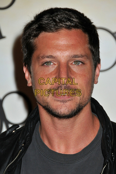 "SIMON REX.Op Launches ""OPen Campus"" Fall Ad Campaign held at Mel's Diner, West Hollywood, CA, USA..July 7th, 2009.headshot portrait grey gray black stubble facial hair .CAP/ADM/BP.©Byron Purvis/AdMedia/Capital Pictures."