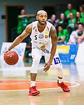 S&ouml;dert&auml;lje 2015-04-19 Basket SM-Final 1 S&ouml;dert&auml;lje Kings - Uppsala Basket :  <br /> Uppsalas Thomas Jackson i aktion under matchen mellan S&ouml;dert&auml;lje Kings och Uppsala Basket <br /> (Foto: Kenta J&ouml;nsson) Nyckelord:  S&ouml;dert&auml;lje Kings SBBK T&auml;ljehallen Basketligan SM SM-Final Final Uppsala Basket portr&auml;tt portrait
