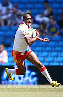 PICTURE BY VAUGHN RIDLEY/SWPIX.COM - Rugby League - Super League Magic Weekend - Catalans Dragons v London Broncos - Eithad Stadium, Manchester, England - 27/05/12 - Catalan's Leon Pryce.