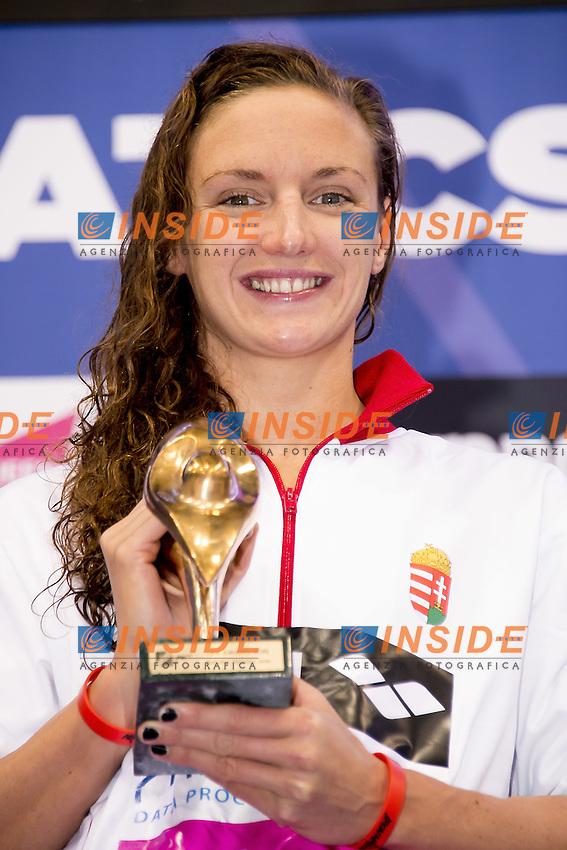 Katinka HOSSZU HUN LEN swimmer of the year 2015<br /> Queen Elizabeth II Olympic Park Pool <br /> LEN 2016 European Aquatics Elite Championships <br /> Swimming day 02 finals<br /> Day 09 17-05-2016<br /> Photo Giorgio Scala/Deepbluemedia/Insidefoto