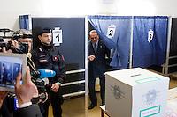 Milano: Silvio Berlusconi al seggio elettorale ..Milan: Silvio Berlusconi  in a polling station