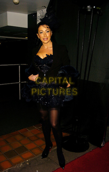 NANCY DELL'OLIO.At Andy & Patti Wong's Chinese New Year Party,.Madame Tussards,London, England, January 27th 2007..full length black dress hat tights jacket.CAP/CAN.©Can Nguyen/Capital Pictures