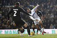 Leeds United's Kemar Roofe breaks into the Reading penalty area in a move which led to the opening goal scored by Stuart Dallas<br /> <br /> Photographer Rich Linley/CameraSport<br /> <br /> The EFL Sky Bet Championship - Leeds United v Reading - Tuesday 27th November 2018 - Elland Road - Leeds<br /> <br /> World Copyright &copy; 2018 CameraSport. All rights reserved. 43 Linden Ave. Countesthorpe. Leicester. England. LE8 5PG - Tel: +44 (0) 116 277 4147 - admin@camerasport.com - www.camerasport.com