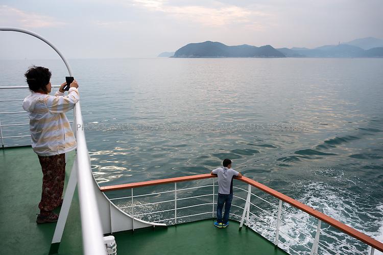 9/10/13 -- Cheongsando Island, Jeonnam Province (Jeollanam-do), South Korea<br /> <br /> The car ferry from Wando Island to Cheongsando Island<br /> <br /> Photograph by Stuart Isett<br /> &copy;2013 Stuart Isett. All rights reserved.