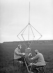 Early aviation history circa 1915 Netherlands two radio operators