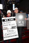 Moises Kaufman attends The Ghostlight Project to light a light and make a pledge to stand for and protect the values of inclusion, participation, and compassion for everyone - regardless of race, class, religion, country of origin, immigration status, (dis)ability, gender identity, or sexual orientation at The TKTS Stairs on January 19, 2017 in New York City.