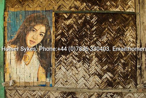 Mrauk U Myanmar (Burma) 2008. A portrait of a Yangon film actress. .