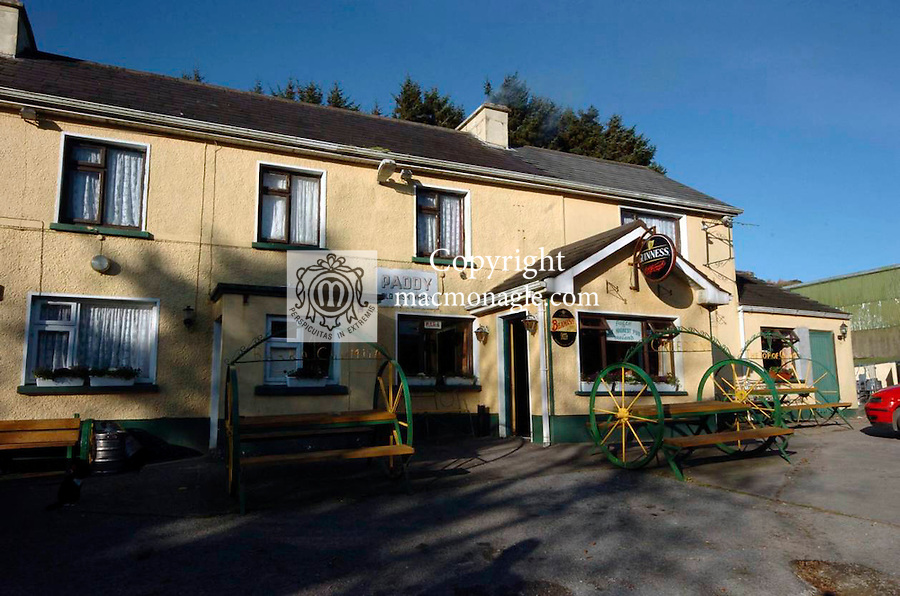 Creedon's pub which claims to be the highest pub in Ireland at the Top of the Coom just inside the Kerry border with Cork which was razed to the ground by fire last night..Picture by Don MacMonagle