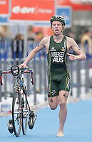 31 AUG 2007 - HAMBURG, GER - Joshua Amberger (AUS) - Junior Mens World Triathlon Championships. (PHOTO (C) NIGEL FARROW)