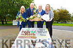 Launching Feile na mBlath in the Tralee town park on Tuesday.<br /> L to r: Ann Sullivan (Chairperson Tralee Flower Garden Club), Frank Hayes (Kerry Group), Bernie Neelan (Sec of Tralee Flower and Garden Club) and Jean Foley (Tralee Municipal District Officer)