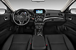 Stock photo of straight dashboard view of 2013-2014 Acura ilx hybrid 5 Door Sedan