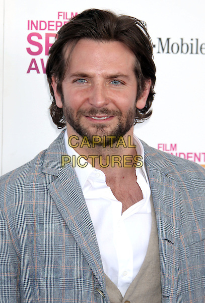 Bradley Cooper.2013 Film Independent Spirit Awards - Arrivals held at Santa Monica Beach..Santa Monica, California, USA,.23rd February 2013..indy indie indies indys portrait headshot beard facial hair grey gray suit white shirt beard facial hair checked plaid .CAP/ADM/RE.©Russ Elliot/AdMedia/Capital Pictures