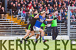 Stephen O'Brien Kerry in action against Chris Barrett Mayo in the first round of the National Football League at Fitzgerald Stadium Killarney on Sunday.