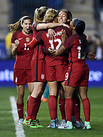 Chester, Pa. - March 1, 2017: The U.S. Women's National team take a 1-0 lead over Germany from a goal by Lynn Williams during second half play in the 2017 SheBelieves Cup at Talen Energy Stadium.