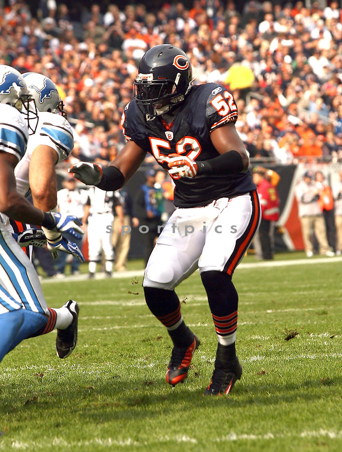 JAMAR WILLIAMS, of the Chicago Bears  in action against the Detroit Lions during the Bears game in Chicago, Illinois on November 2, 2008..Bears win 27-23