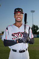 Lake Elsinore Storm outfielder Buddy Reed (23) poses for a photo before a California League game against the Modesto Nuts at John Thurman Field on May 11, 2018 in Modesto, California. (Zachary Lucy/Four Seam Images)