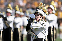 The MIZZOU marching band performs before the game with the Illinois State Redbirds at Memorial Stadium in Columbia, Missouri on September 22, 2007. The Tigers won 38-17.