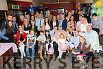 A double christening and a 70th birthday celebration in the Slieve Mish bar on Saturday. Esther O'Mahony from Hawley Park celebrating her 70th birthday with friends and family also celebrating were proud parents John Reidy and Catherine O'Mahony who christened their baby Corey John with another couple of proud parents Rachel O'Mahony and Andrew Prouse  who christened baby Enya Marie all the way from England.It was a joint christening in St Johns church Tralee by Fr Finnucane