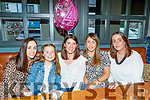 Mary Healy, Ardfert, seated centre, had a fab time in the Ashe hotel, Tralee, celebrating her 40th birthday last Saturday afternoon, L-R Linda Dennehy, Teah Walsh, Mary Healy, Mags Lucey with Kathy Walsh.