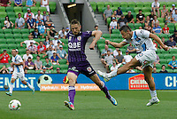 Robert Koren   during the  A-League soccer match between Melbourne City FC and Perth Glory at AAMI Park on February 22, 2015 in Melbourne, Australia.