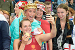 ENG - London, England, August 30: Giselle ANSLEY #18 of England poses with fans following the victory over The Netherlands in the gold medal match of the Unibet EuroHockey 2015 on August 30, 2015 at Lee Valley Hockey and Tennis Centre, Queen Elizabeth Olympic Park in London, England.  (Photo by Dirk Markgraf / www.265-images.com) *** Local caption ***