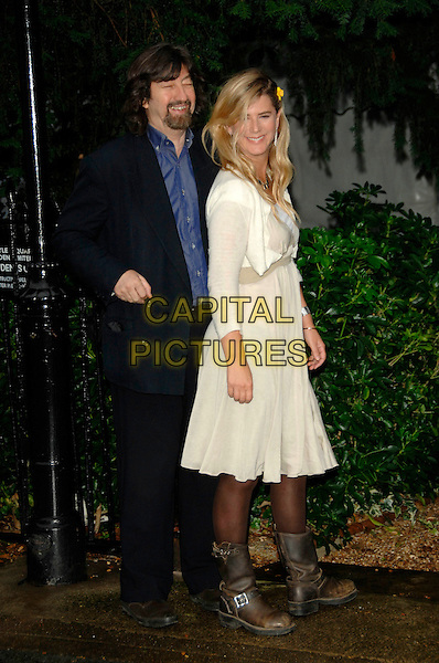 TREVOR NUNN & IMOGEN STUBBS.David Frost's Summer Garden Party.5th July London, England.full length black suit white cream dress brown boots .CAP/PL.©Phil Loftus/Capital Pictures