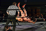 """NELSON, NEW ZEALAND - JULY 29: Ultimate Championship Wrestling """"Bad Company"""" on July 29, 2017, Nelson, New Zealand. (Photo by: Barry Whitnall Shuttersport Limited)"""