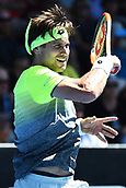 8th January 2018, ASB Tennis Centre, Auckland, New Zealand; ASB Classic, ATP Mens Tennis;  David Ferrer (ESP) during the ASB Classic ATP Men's Tournament Day 1