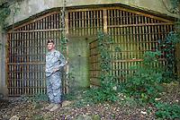 - Camp Ederle US Army base, entrance of a cavern in Longare detachment (former Site Pluto)....- base US Army di caserma Ederle, ingresso di una grotta nel distaccamento di Longare (ex Site Pluto)